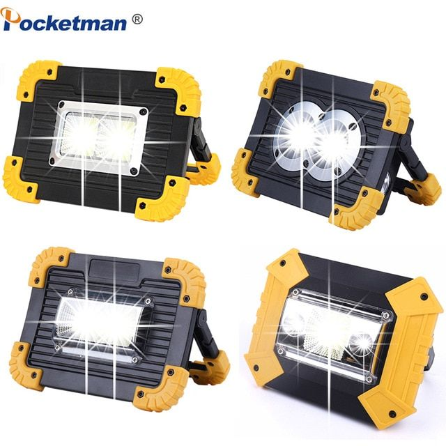 100w Led Portable Spotlight 10000lm Super Bright Led Work Light Rechargeable For Outdoor Camping Lampe Led Flashlig Portable Spotlight Work Lamp Led Work Light