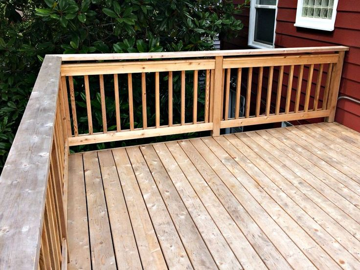 """Our deck was built back in November, and was left to """"season"""" until now. This summer, it was time to get started restoring our deck from its gray, faded state.…"""