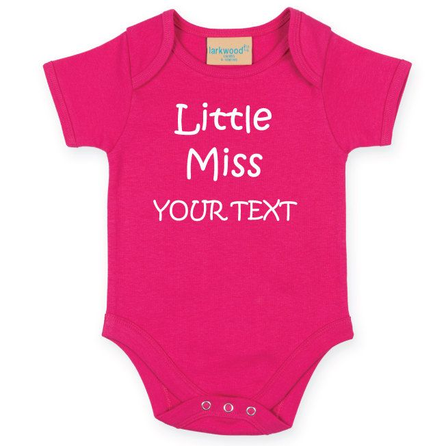 Little Miss Personalised Baby Bodysuit. Funny Baby Grow. Newborn Baby Girl. Baby Onesie. Baby Shower Gift. Customized with your Text by SoPinkUK on Etsy