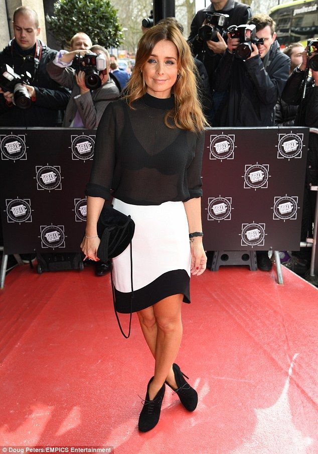 Sheer-bliss: Louise Redknapp swapped the sequin for sheer as she showcased her racy fashion look while attending The TRIC Awards at the Grosvenor House in London on Tuesday
