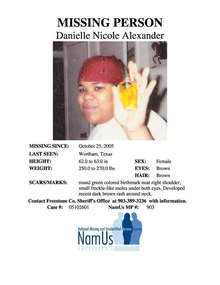 Find Missing Danielle Nicole Alexander!