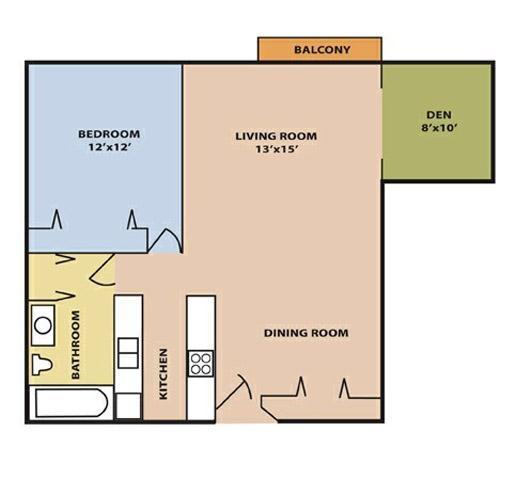 1 bedroom with den - Victorian Terrace