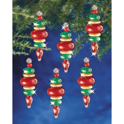 Holiday beaded ornament kit victorian baubles to be for Crystal baubles christmas