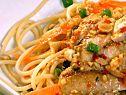 Cilantro Chicken and Spicy Thai Noodles Recipe