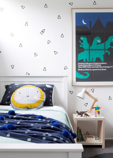 Create a cosy room your toddler will love | The original vintage poster is from the American Museum of Natural History in New York | Home Beautiful Magazine Australia