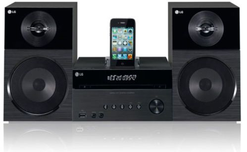 LG DM2520 Mini Audio Components iPhone iPod Docking 60W USB Host CD DVD Player