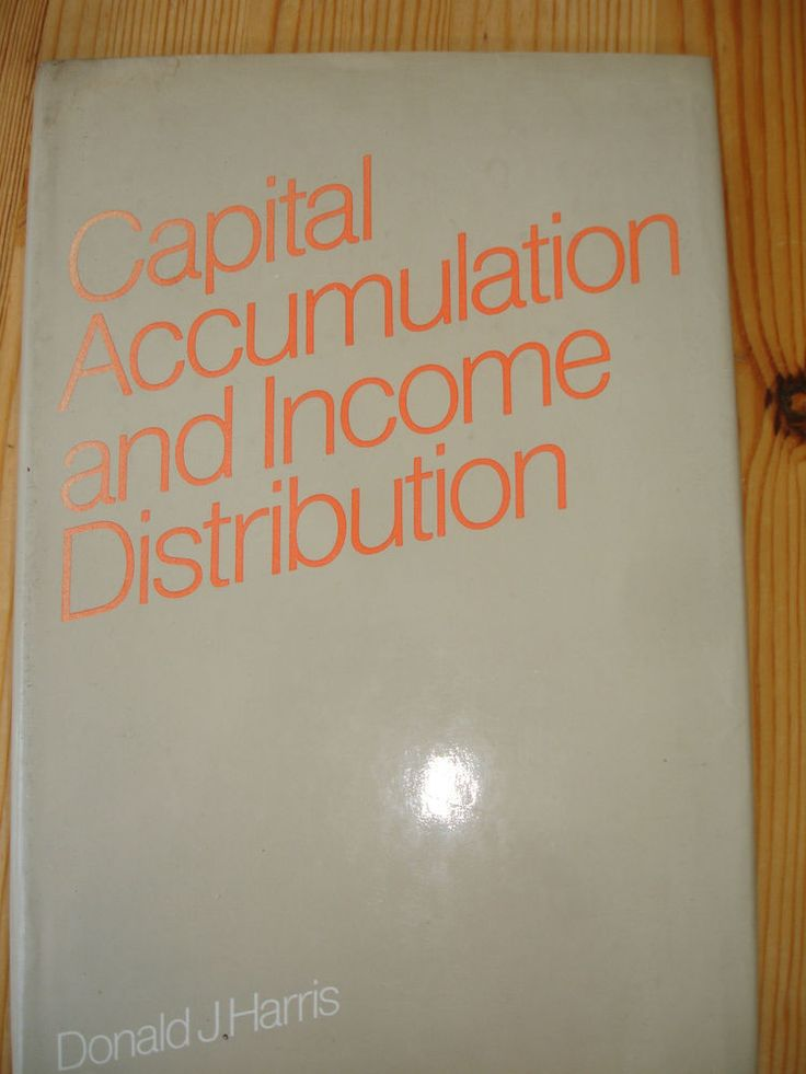 Donald J. Harris: Capital Accumulation and Income Distribution. HC+SU Englisch!