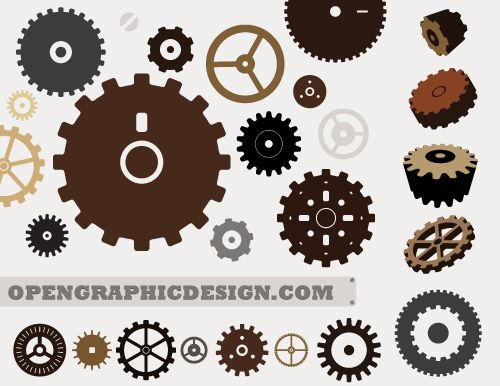 Free vector gear graphics