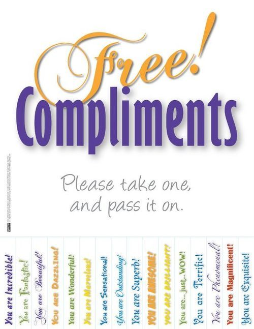 Free Compliments School Counseling Pinterest On