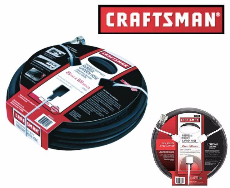 "Craftsman Garden Hose All-Rubber 25 ft x 5/8"" Watering Flexible Crush-resistant #Craftsman"