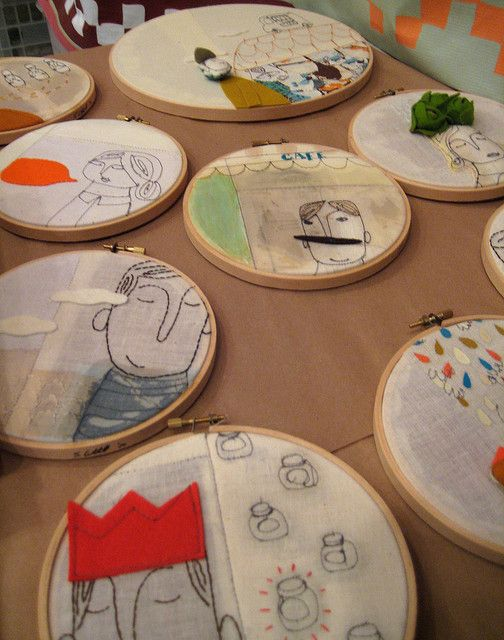 Storytelling with embroidery, an inspirational photo for students.