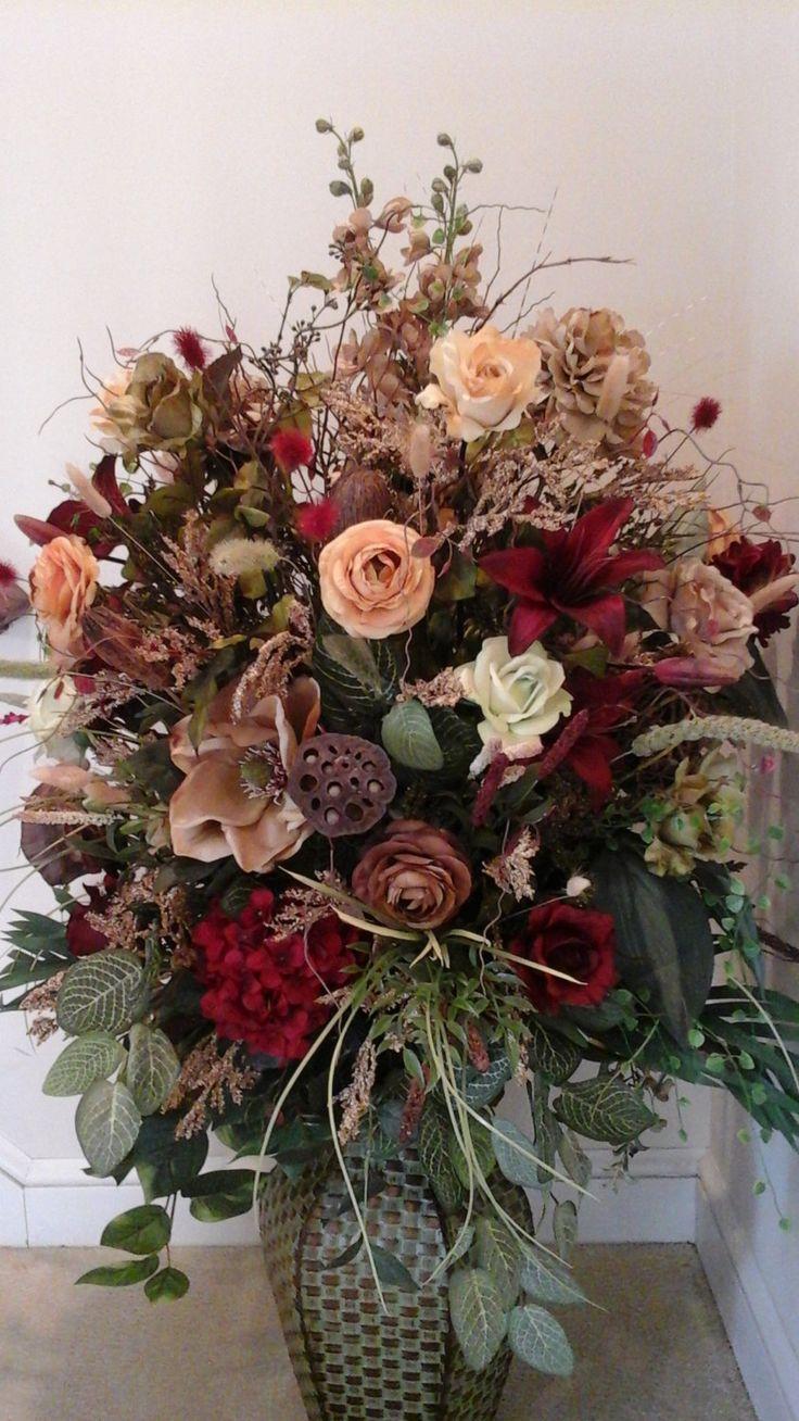 Silk flower arrangements for