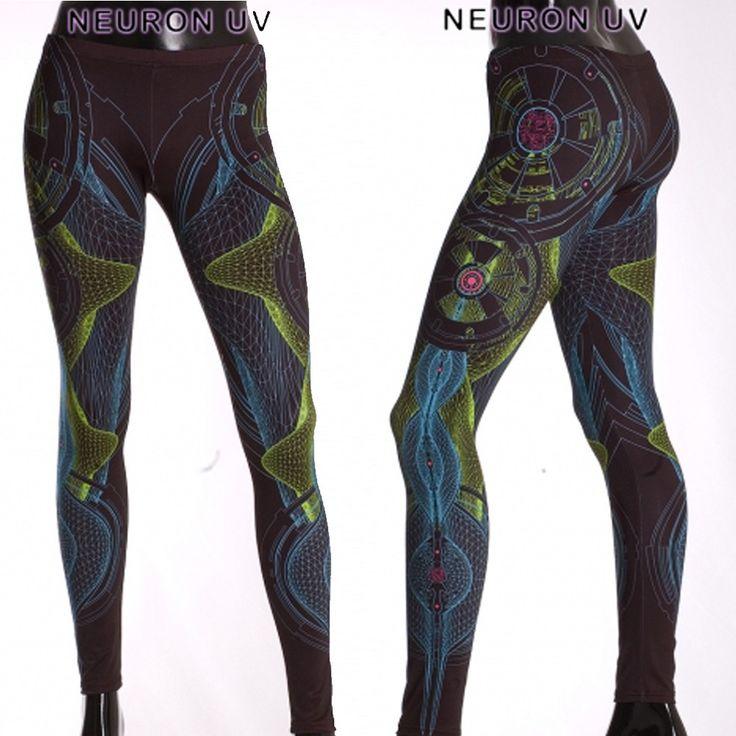 """Legging uv public beta """"neuron uv"""", noir taille s - Femme / Leggings - treggings"""