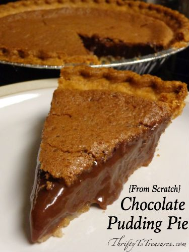 This {From Scratch} Chocolate Pudding Pie is perfect for those who are crunched for time. You'll have it in the oven in a snap!
