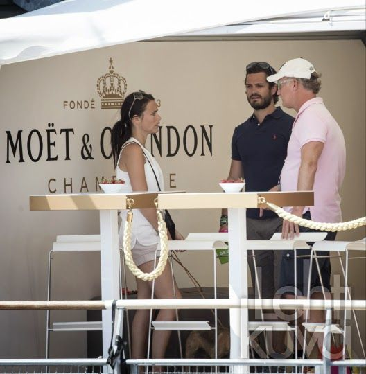 21 JULY 2014  Prince Carl Philip and Sofia Hellqvist in Bastad Yesterday:Prince Carl Philip and his fiancee Sofia Hellqvist attended  the Sweden Open tennis tournament in Bastad.
