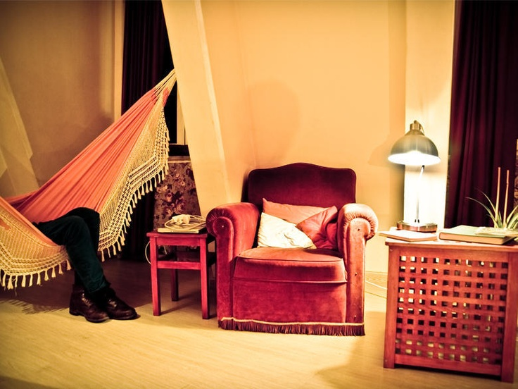 Find a cosy corner to read and relax at the Lisbon Poets Hostel