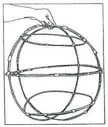 Not a great image but very clear instructions about how to make a willow lantern