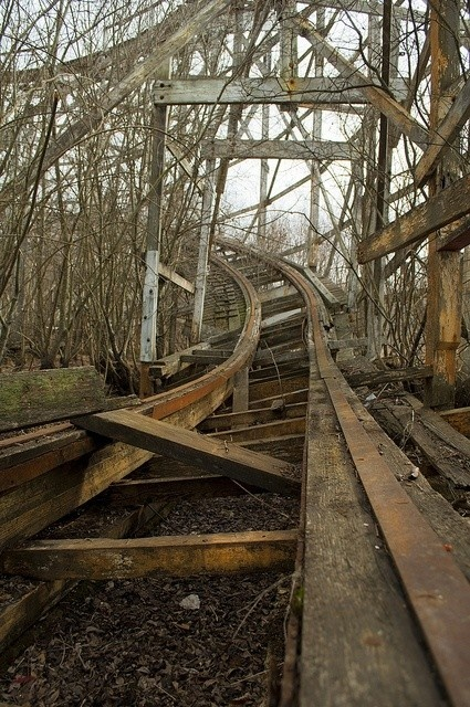 decaying roller coaster.