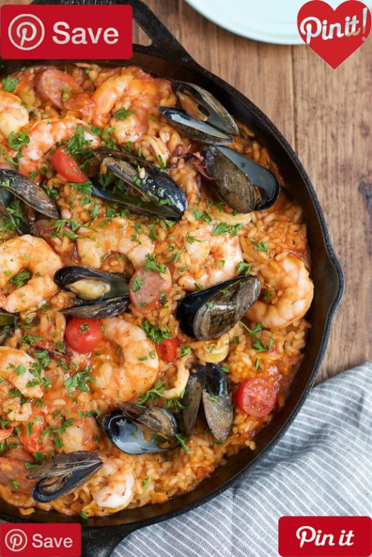 DIY Seafood Paella - Easy delicious and flavorful Seafood Paella that you can make at home! And you dont need a paella pan!  Ingredients  Gluten free  Meat   cup Sausage cooked spicy  Seafood   lb Mussels  1 (12 oz.) package Shrimp from omaha Wild White S
