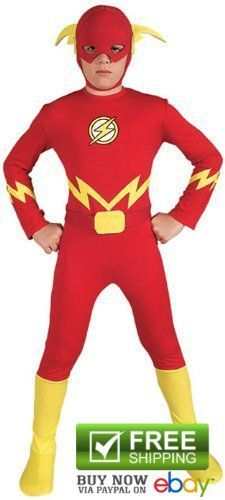"Rubie Boys Superhero Costumes Kids Justice League The Flash Child Medium 50""-54"" #Rubies"