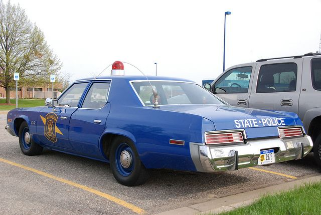 Michigan State Police cars -- 1975 Plymouth Gran Fury