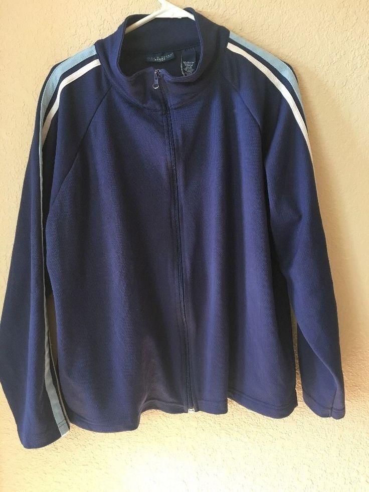 nick & sarah woman zip up womens blue jacket 3X #nicksarah #BasicJacket