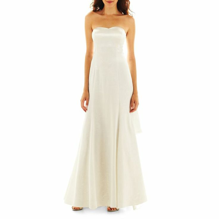 Jcpenney simply liliana double layer train gown for Jcpenney dresses for weddings