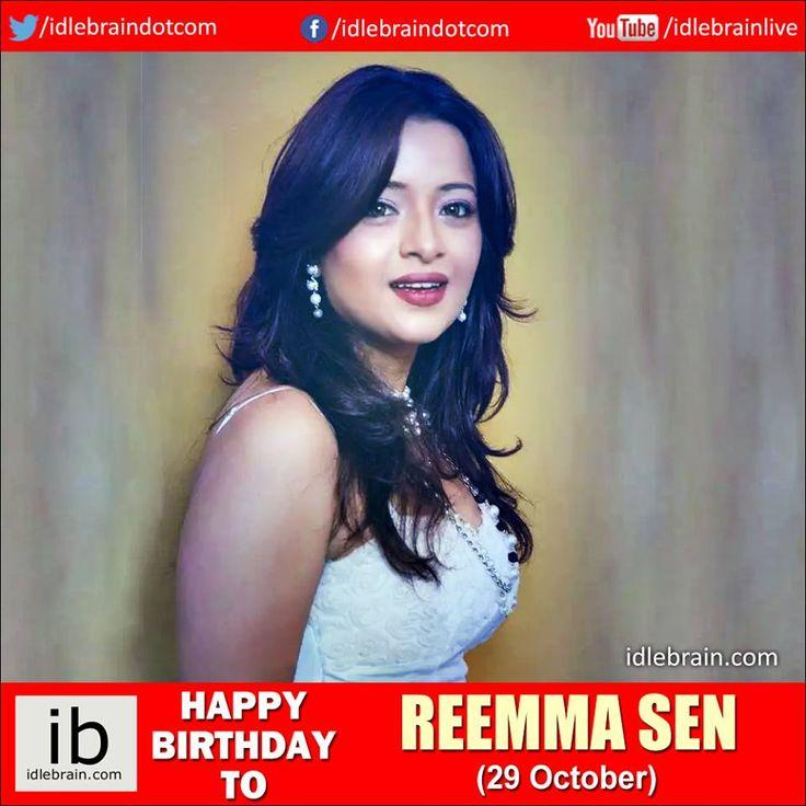 Happy Birthday to Reemma Sen (29 October) - idlebrain.com