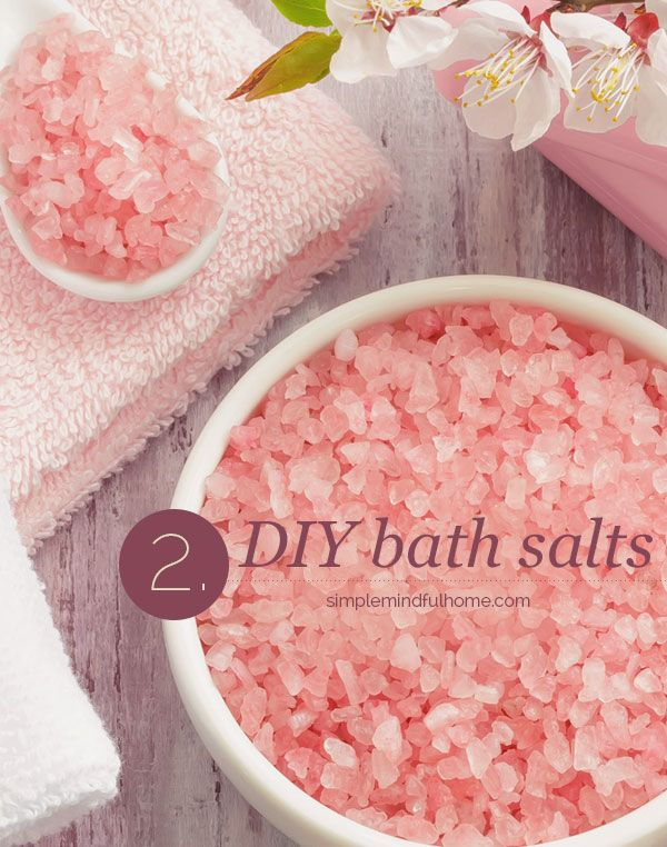super easy DIY bath salts