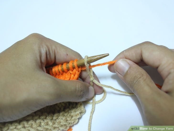 I love this way (option 2) of changing yarn when knitting.