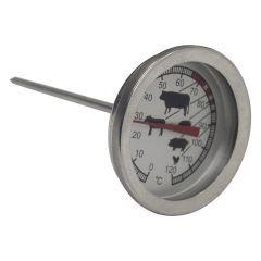 Termômetro para Carne - Rojemac  Para fazer do seu prato um sucesso você não pode deixar nenhum detalhe passar despercebido. Utilizando o termômetro, a carne pode ser retirada na temperatura ideal para conservar o sabor e não deixar passar do ponto.