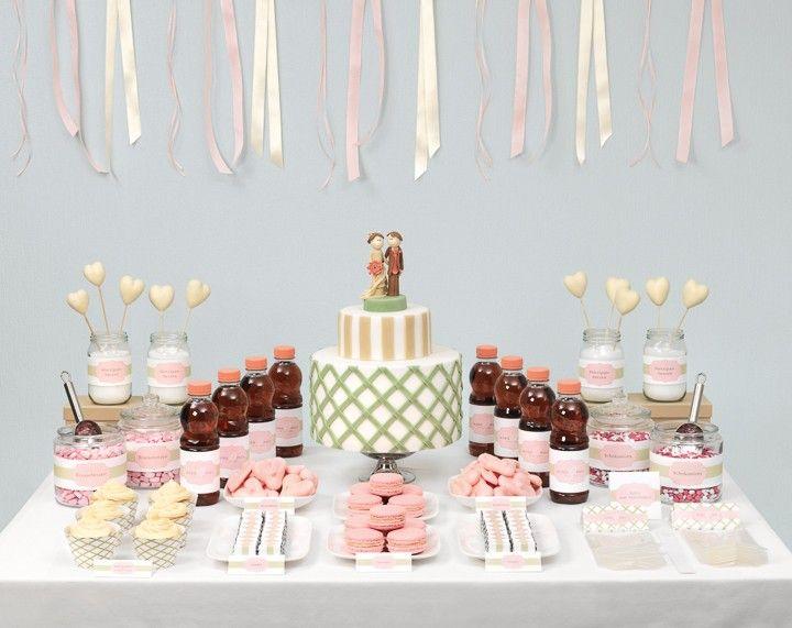 Sweet-Table: Zeder und Altrosa - weddingstyle.de