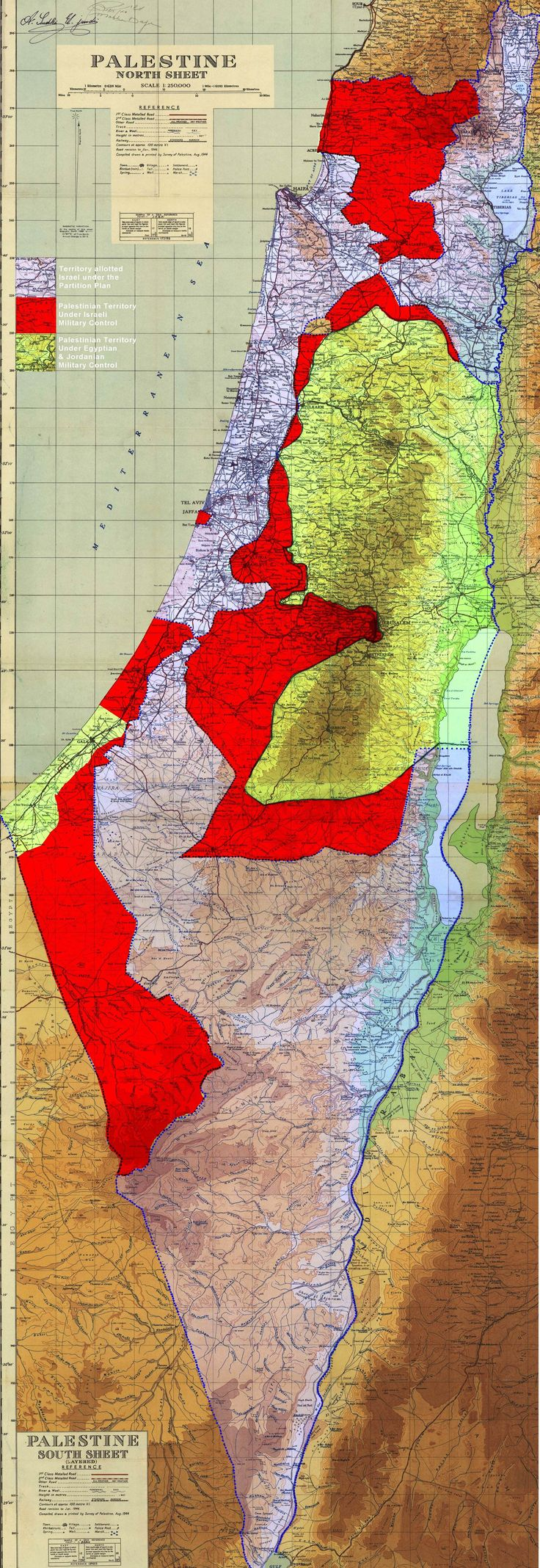 Palestinian territories under military control of Israel