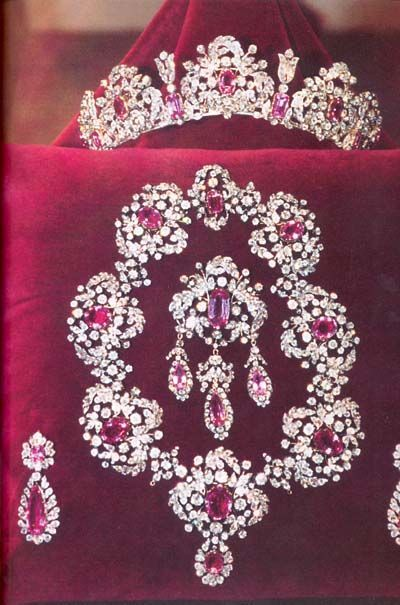 The Diamond and Topaz Parure worn by Clotilde Courau on her wedding day to She is married to Emanuele Filberto, Prince of Venice and Piedmont, a member of the House of Savoy and the grandson of the last King of Italy.