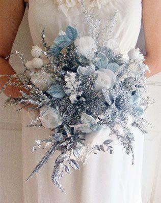 Вдохновение: зимние свадебные букеты