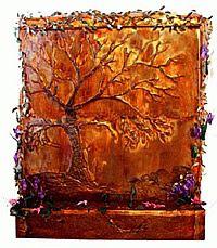 Golden Oak Tree Fountain  A Garden to Remember  Indoor