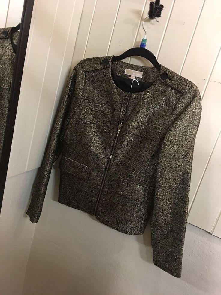 Michael Kors Gold And Black Jacket, Size 12/14  | eBay