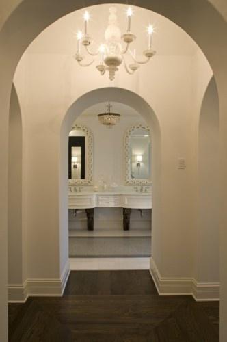 Love this entryBathroom Design, Ideas, Tile Floors, Arches, Master Bedrooms, Master Bathrooms, John Kraemer, Eclectic Bathroom, Bath Design