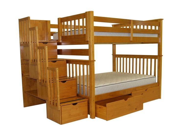 full over full bunk bed with storage - Hausgemachte Etagenbetten Fr Mdchen