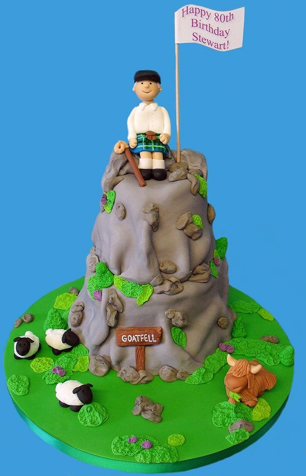 Hill Walking Cake Berg Cake