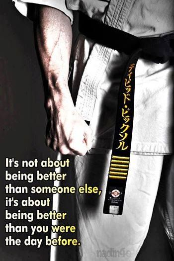 What a great reminder of what you should strive for in martial arts!