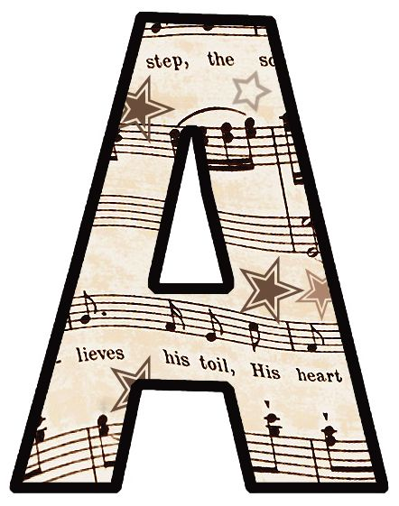 * FREE * Printable Vintage Sheet Music: ---the entire ALPHABET.  Plus, there are more complete free printable sets available to choose from.  Great for DIY bunting, banners & party decorations.