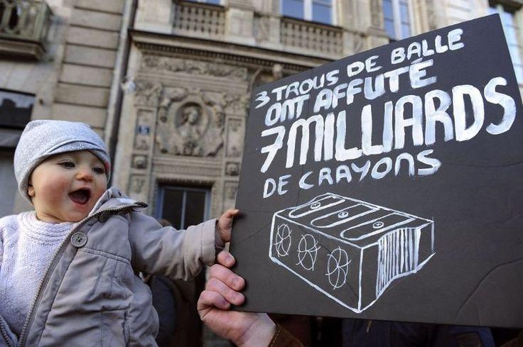 Lors de la manifestation d'hommage aux 17 victimes, dimanche 11 janvier à Rennes.