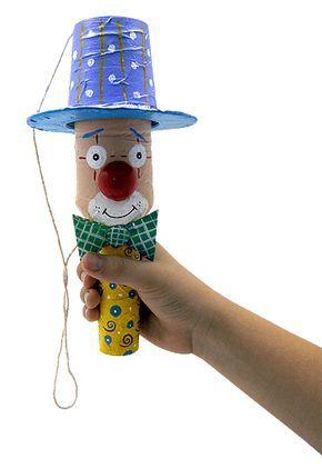 Criando Crianças: Brinquedo de sucata: Palhaço Bilboque