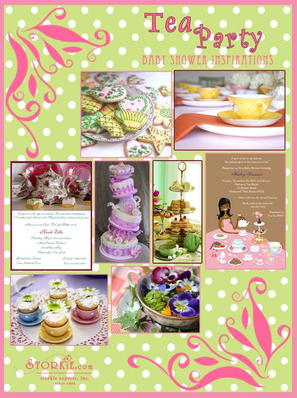 best tea party baby shower images on   tea party baby, Baby shower invitation