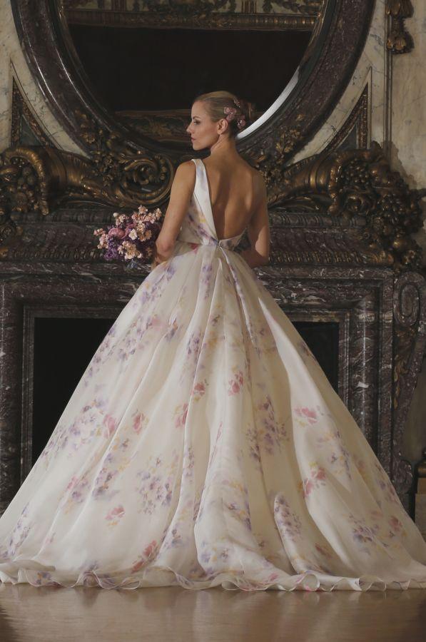 Romona Keveza couture spring watercolor wedding dress: Photography: Romona Keveza - http://www.romonakeveza.com/