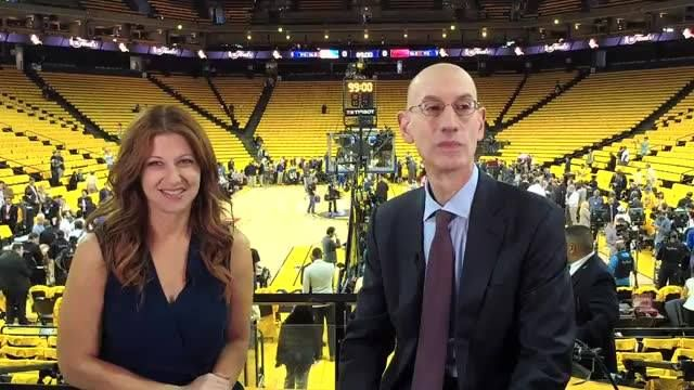 We're live with NBA Commissioner Adam Silver and Rachel Nichols before Game 2 of the #NBAFinals (8pm/et on ABC)