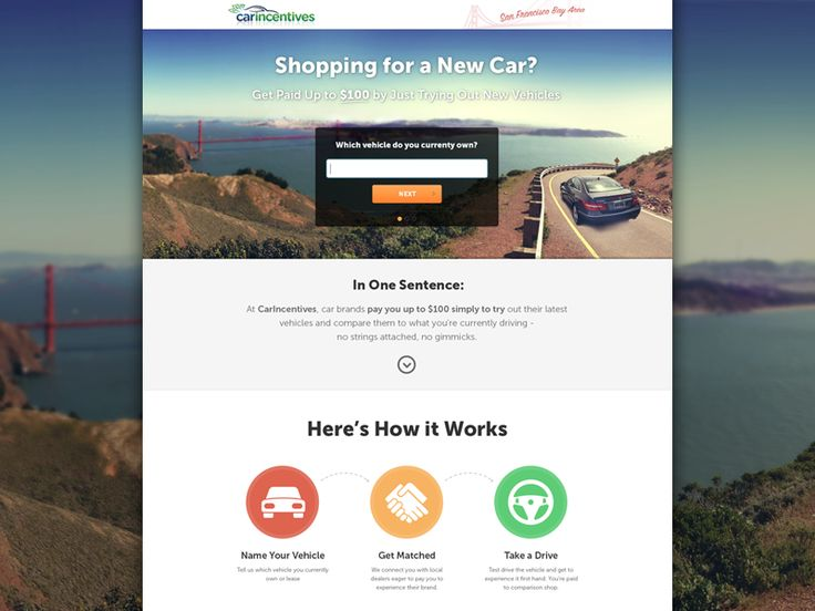 Car Incentives - Landing page by Ivo Ivanov