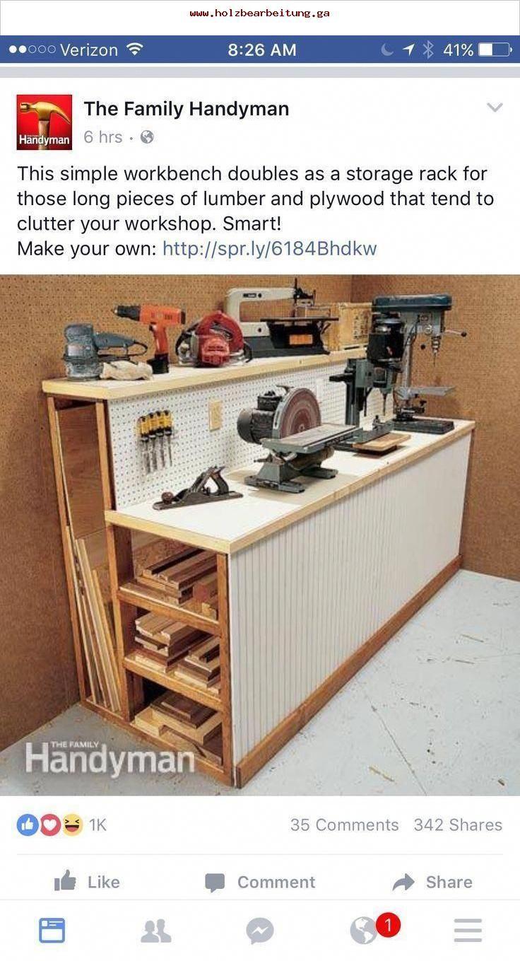 Construire Un Etabli Multifonction gute werkstattidee , #werkstattidee | rangement atelier