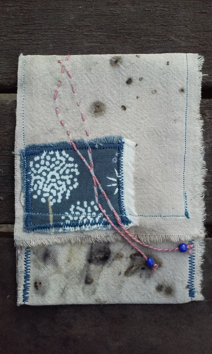 Eco printed pouch/purse.Naturally dyed Eco fashion Eco gift OOAK by SalkimiCreations on Etsy